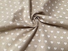 HomeBuy WHITE HEART CANVAS Upholstery Curtain