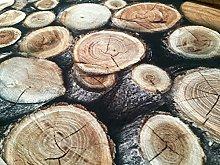 HomeBuy WOOD LOG Stump Upholstery Curtain Cotton