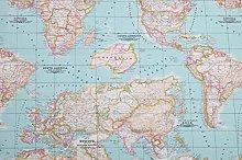 HomeBuy WORLD MAP 2 Designer Curtain Upholstery