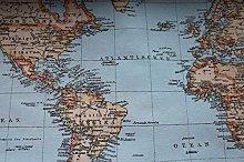 HomeBuy WORLD MAP Designer Curtain Upholstery