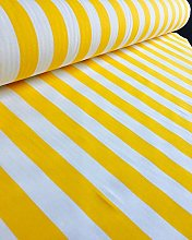 HomeBuy Yellow White Striped Fabric - Stripes