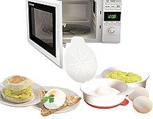 HOMECC Microwave Egg Poacher, Poached Egg Maker