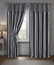 HomeHarmony® Demi Silver Velvet Diamante Bedding