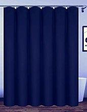 Homehold 180x180cm Navy Blue Bathroom Curtain With