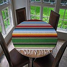 HOMEIEU Geometric Stripe Printing Round Table