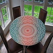 HOMEIEU Mandala Printing Round Tablecloth, 3D