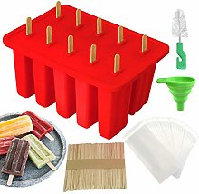 Homeleo Silicone Popsicle Ice Lolly Moulds, 10