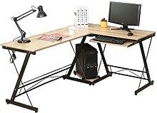 homelikesport Computer Table Desk L-Shape Large