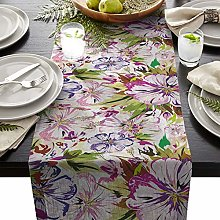 Homemade 4U Floral Table Runners Linen Table Cloth