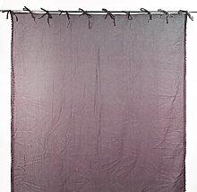 Homemaison 100% Cotton Plain Curtain with Ties,