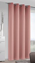 Homemaison Blackout Curtain, Polyester, pink,
