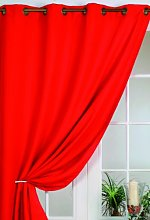 Homemaison Blackout Curtain Rouge red