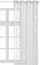 HomeMaison Bouchara - Seamed Curtain with Floral