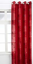 HomeMaison.com Shantung Embroidered Curtain with