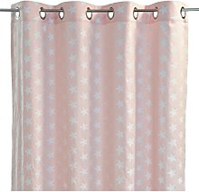 Homemaison Cotton Curtain, Pink, 250 x 140 cm