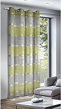 Homemaison Curtain Chambray Stripe chenillées,