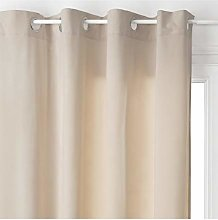 Homemaison Curtain Esprit Loft Polyester, taupe,