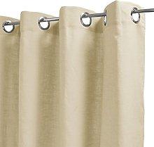 Homemaison Curtain Plain, Linen, 250x140cm
