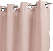 Homemaison Curtain Plain, Linen, Pink, 250x140 cm