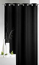 Homemaison Curtain Upholstery, Polyester, Black,