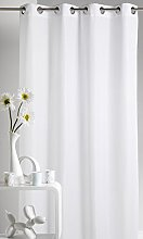 Homemaison Curtain Upholstery, Polyester, white,