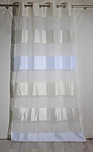 Homemaison Curtain with Block Stripes, Bayadères