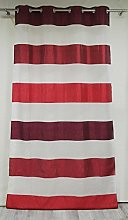 Homemaison Curtain with Block Stripes, Bayadères,