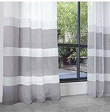 Homemaison Curtain with Block Stripes Decorative