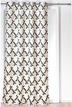 Homemaison Curtain with Crossed Lines, Polyester,