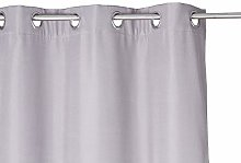 Homemaison Curtain with Eyelets, Polyester, grey,