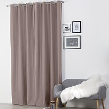 Homemaison Curtain with Eyelets, Polyester, taupe,