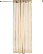 Homemaison Curtain with Fine Woven Stripes