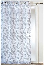 Homemaison Curtain with Geometric Embroidery,