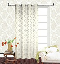 Homemaison Curtain with Jacquard Pattern Polyester
