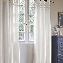 Homemaison Curtain with Three Horizontal Stripe
