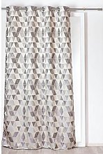 Homemaison Curtain with Triangles, Polyester,
