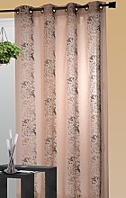 HomeMaison Embroidered Curtain Beige, beige, 140 x