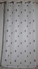 Homemaison Embroidered Curtain Rhombus Pattern