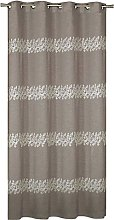 Homemaison Embroidered Muslin Curtain, Polyester,