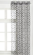 HomeMaison Embroidered Organza Curtain, grey, 130