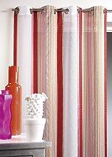 Homemaison HM69321988 Muslin Curtain with Vertical