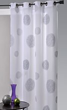 HomeMaison HM69807746 Curtain Muslin Embroidered