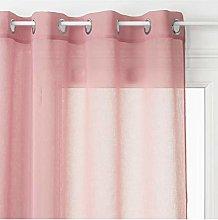 Homemaison Lightweight Plain Curtain with Eyelets,