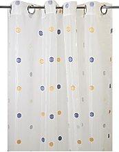 Homemaison Muslin Curtain with Fancy Dots,