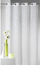 Homemaison Muslin Net Curtain with Embroidery,