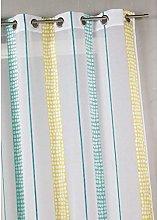 Homemaison Muslin Net Curtain with Vertical