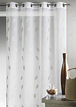 Homemaison Net Curtain - Embroidered Muslin, gray,