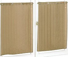 Homemaison Pair of Striped Muslin Curtain,