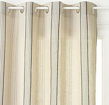 Homemaison Panel Curtain, Polyester, Linen Cottage Spirit, 260x 140cm