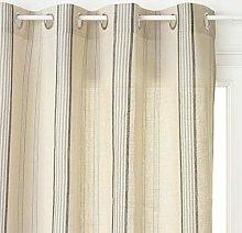 Homemaison Panel Curtain, Polyester, Linen Cottage